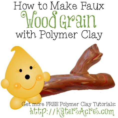 how to make sculpey katersacres how to make a polymer clay wood grain tutorial