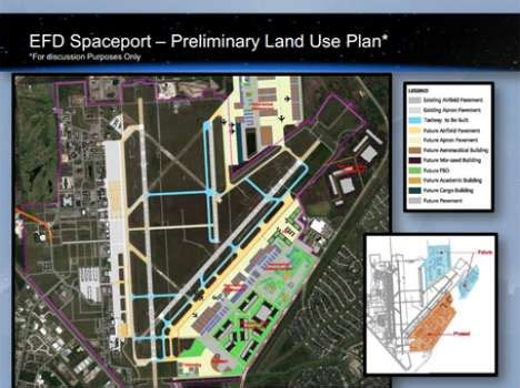 houston development map houston airport system plan calls for building spaceport