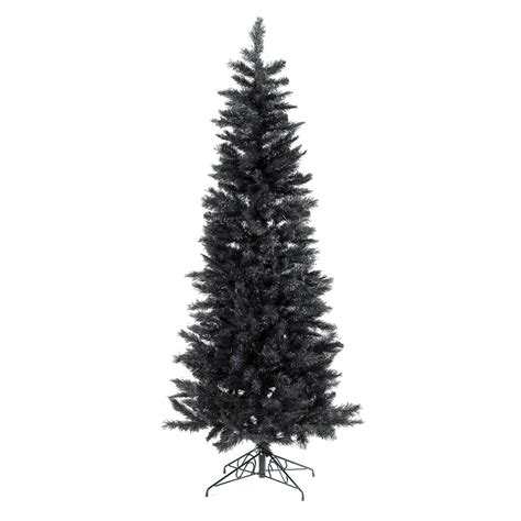 slimline pine christmas tree black dzd