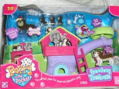 puppy in my pocket names puppy in my pocket spin swing treehouse play set terriers set includes