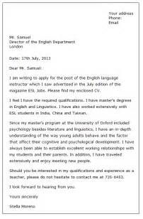 application letter sle