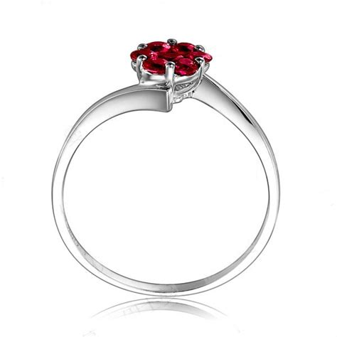 beautiful ruby wedding ring on 10k white gold jewelocean