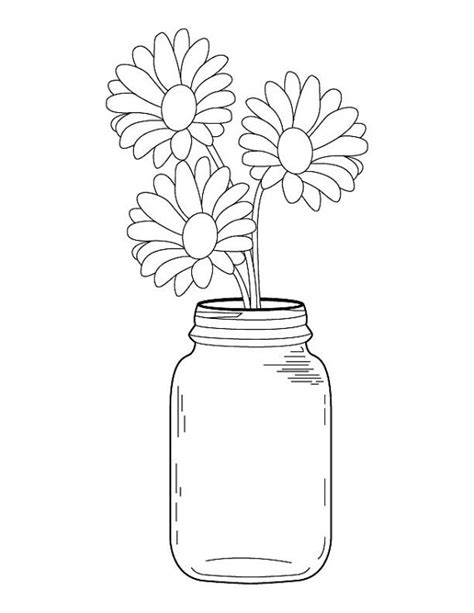 Mason Ball Jar Coloring Pages Page For Fall A Great Adults Different Coloring Pages