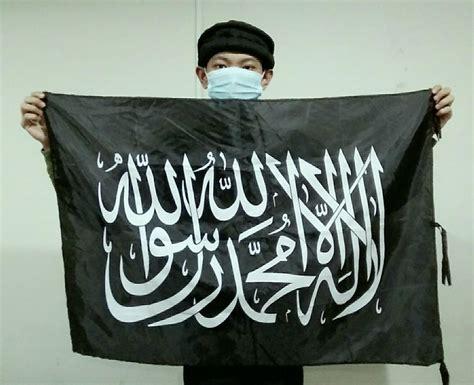 jual 2 lembar bendera tauhid panji islam rayah liwa