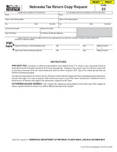 What Information Must Be Contained In An Authorized Search Warrant Form 23 Nebraska Tax Return Copy Request