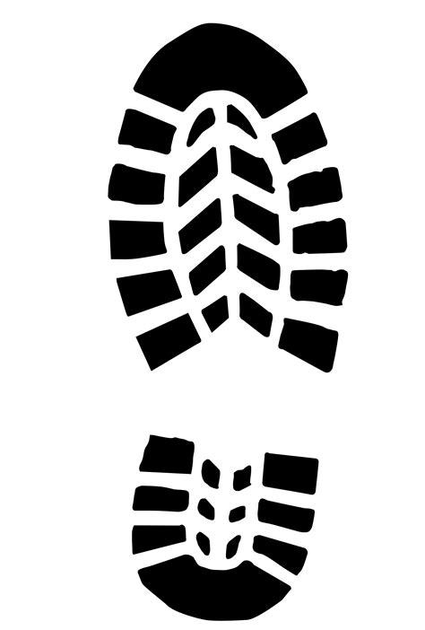 running shoe print vector clipart boot print