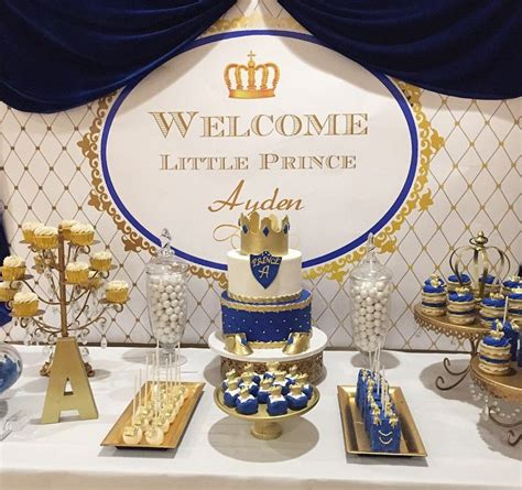 Royal Blue And Gold Baby Shower Decorations by Royal Blue Gold White Prince Themed Printable By