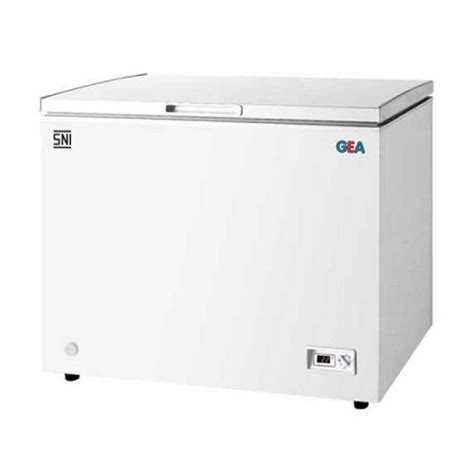 gea sd 186 chest freezer sliding 186l putih ezyhero