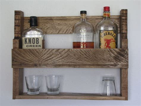Whiskey Rack by Rustic Whisky Rack Made From Reclaimed Hardwood