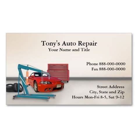 Automotive Repair Business Card Template by Auto Repair Business Card Auto Repair Business Cards