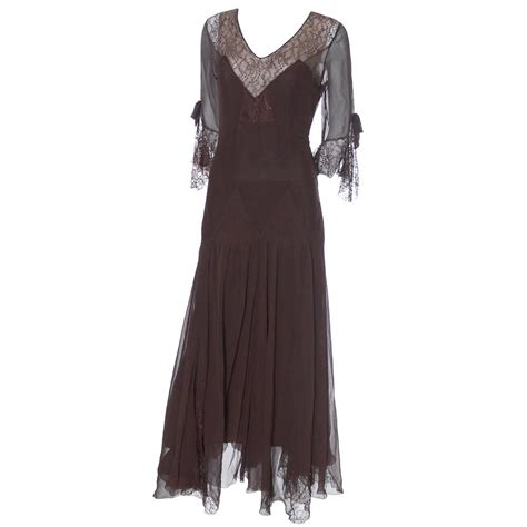 1920s evening dresses silk chiffon vintage dress late 1920s early 1930 s evening