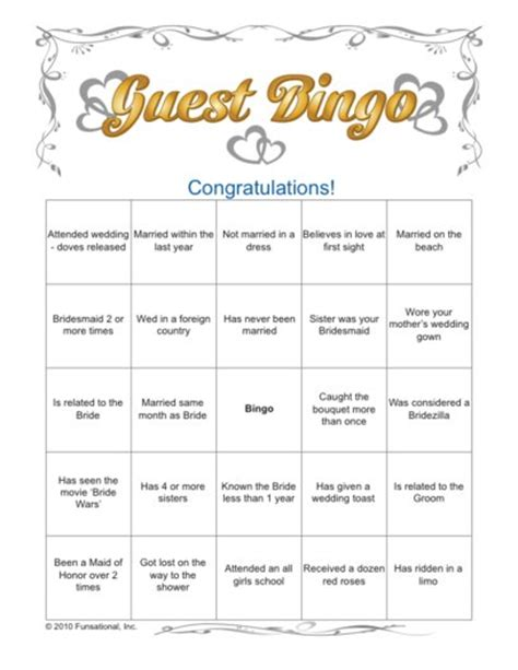 101 wedding printables free know someone getting ice breaker quot wedding guest bingo quot bridal shower games com