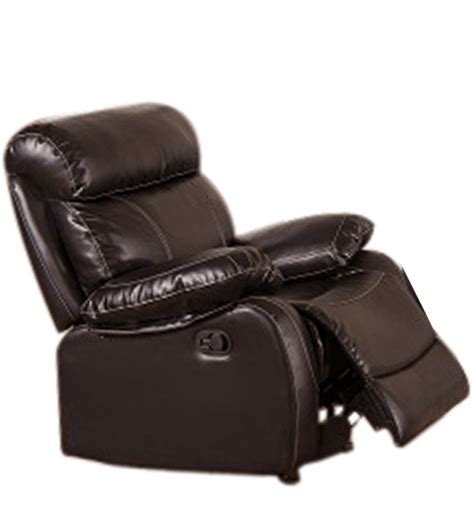 one seater recliner single seater pure leather recliner rocker sofa in brown