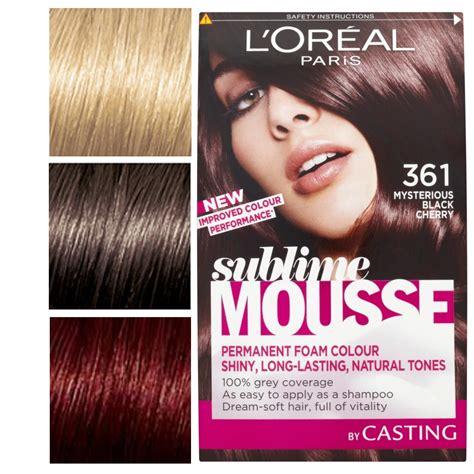 l oreal mousse hair color l oreal sublime mousse permanent colour