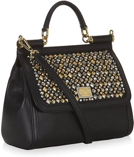 Dolce Gabbana Miss Silky Tote by Dolce Gabbana Medium Studded Miss Sicily Classic Tote In