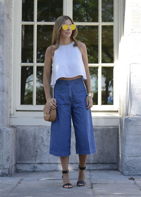 Premium Cropped Cullotes Medina Fashion 3105 best images about estilo 4 on fashion weeks look and wide leg