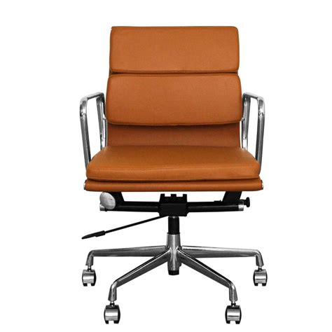 Brown Desk Chair by The Inventors Brown Leather Back Soft Pad Style