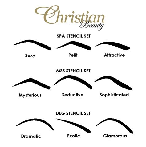 christian eyebrow stencil shapes christian eyebrows