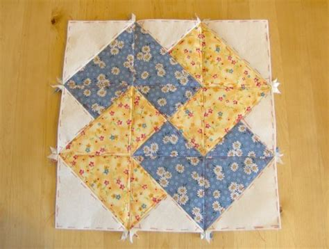 Patchwork Block - quilting on machine quilting quilt as you go