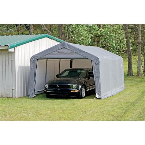 Shelter Garage In A Box by 12x20x8 Peak Style Garage In A Box 126242