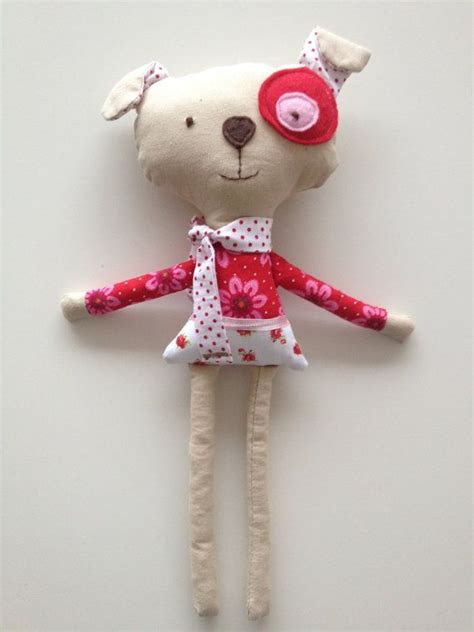 Handmade Stuffed Dolls - handmade stuffed animal flora doll