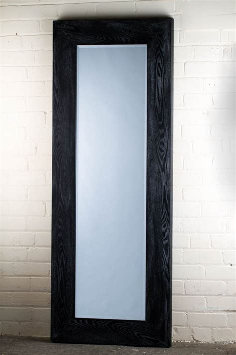 black mirror length this stunning barn wood range black full length mirror is