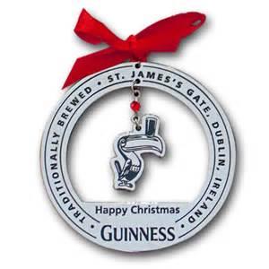 guinness toucan chrome christmas tree ornament