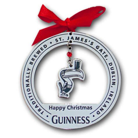 guinness toucan chrome christmas tree ornament
