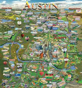 Maps Austin by Austin Map Silicon Maps