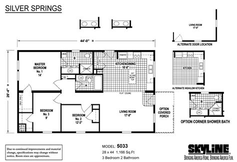 springs floor plans silver springs 5033 by skyline homes