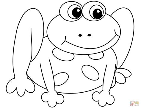 coloring page cartoon frog cartoon frog coloring page free printable coloring pages