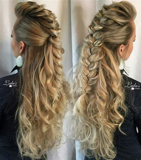 hairstyles for long hair updos with braid mohawk braid half updo ideas de peinado mo 241 os