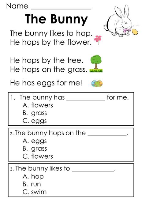trees reading quiz for kids easter reading passages addition word problems kindergartenklub reading