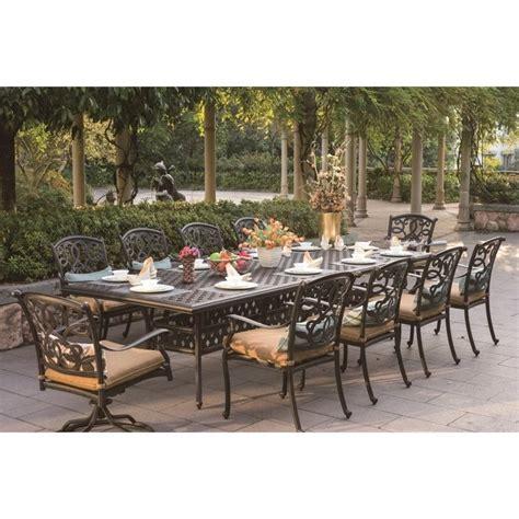 darlee santa 11 patio dining set in antique