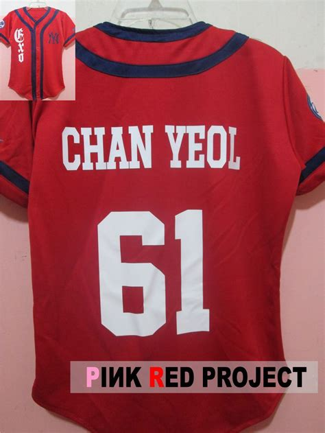 exo jersey number exo growl jersey chanyeol xoxo pinkredproject exo
