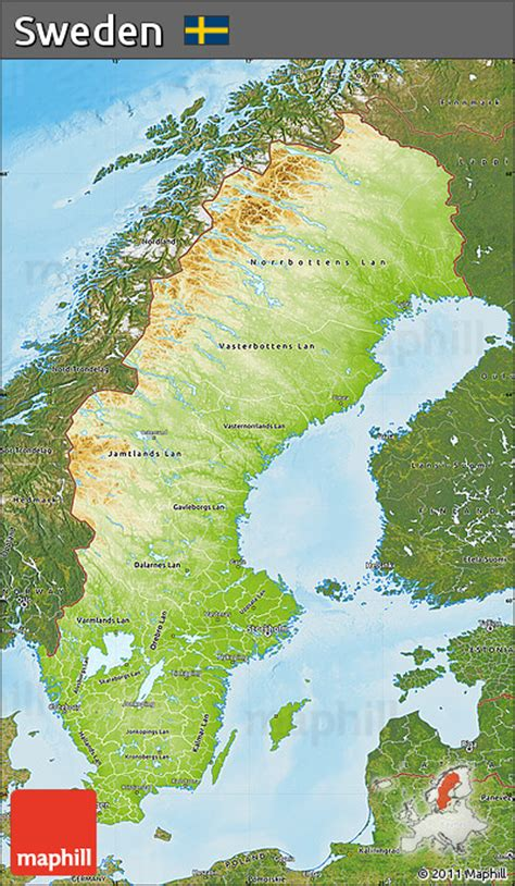 physical map of sweden free physical map of sweden satellite outside shaded