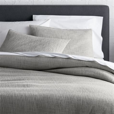 And Grey Duvet Cover Lindstrom Grey Duvet Covers And Pillow Shams Crate And