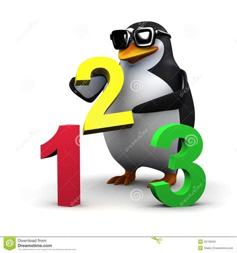 imagenes de matematicas en caricatura le pingouin 3d enseigne des maths illustration stock