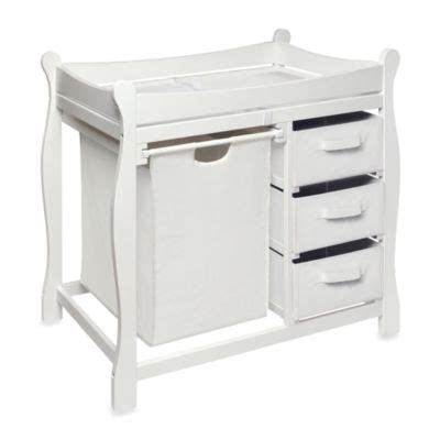 White Sleigh Changing Table White Changing Tables From Buy Buy Baby