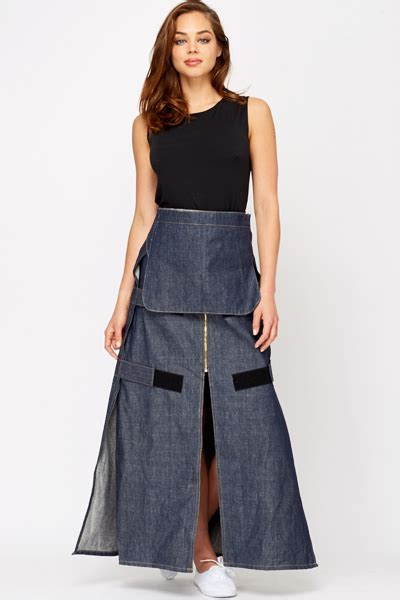 Overall Maxi denim overall maxi skirt just 163 5
