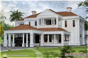 Style Home Design by 5900 Sq Ft Colonial Style Villa Exterior Elevation