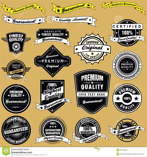 retro style vintage labels and emblems collection royalty
