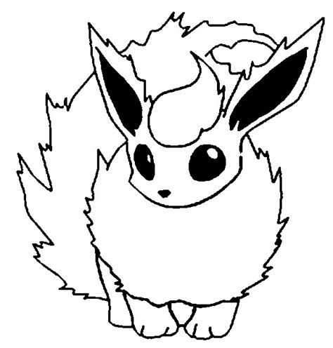 coloring pages pokemon flareon drawings pokemon