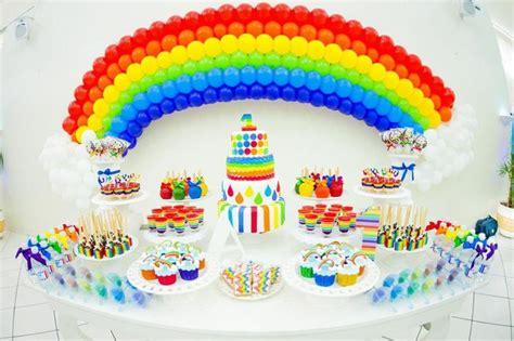 rainbow theme decorations kara s ideas rainbow birthday via kara s