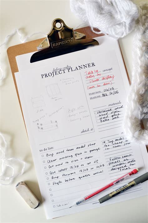 diy project planner the hassle free way to plan your next diy printable