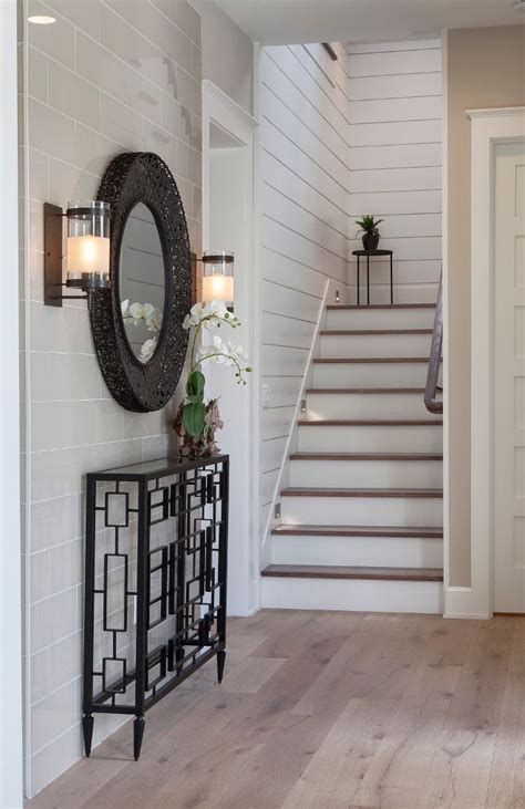 shiplap foyer foyer ideas foyer with a combination of shiplap and tile