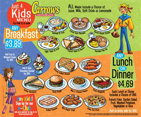 kid friendly dinner menu can do chefs club with restaurant recommendations