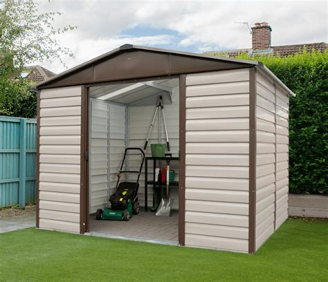 Yard Master Shed by Yardmaster 10ft X 6ft Metal Garden Shed 106tbsl Shiplap
