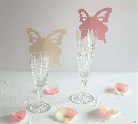 farfalle segnaposto per bicchieri crea segnaposto farfalla per bicchiere