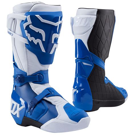 blue dirt bike boots botas de motocross fox 180 azul 2018 botas de